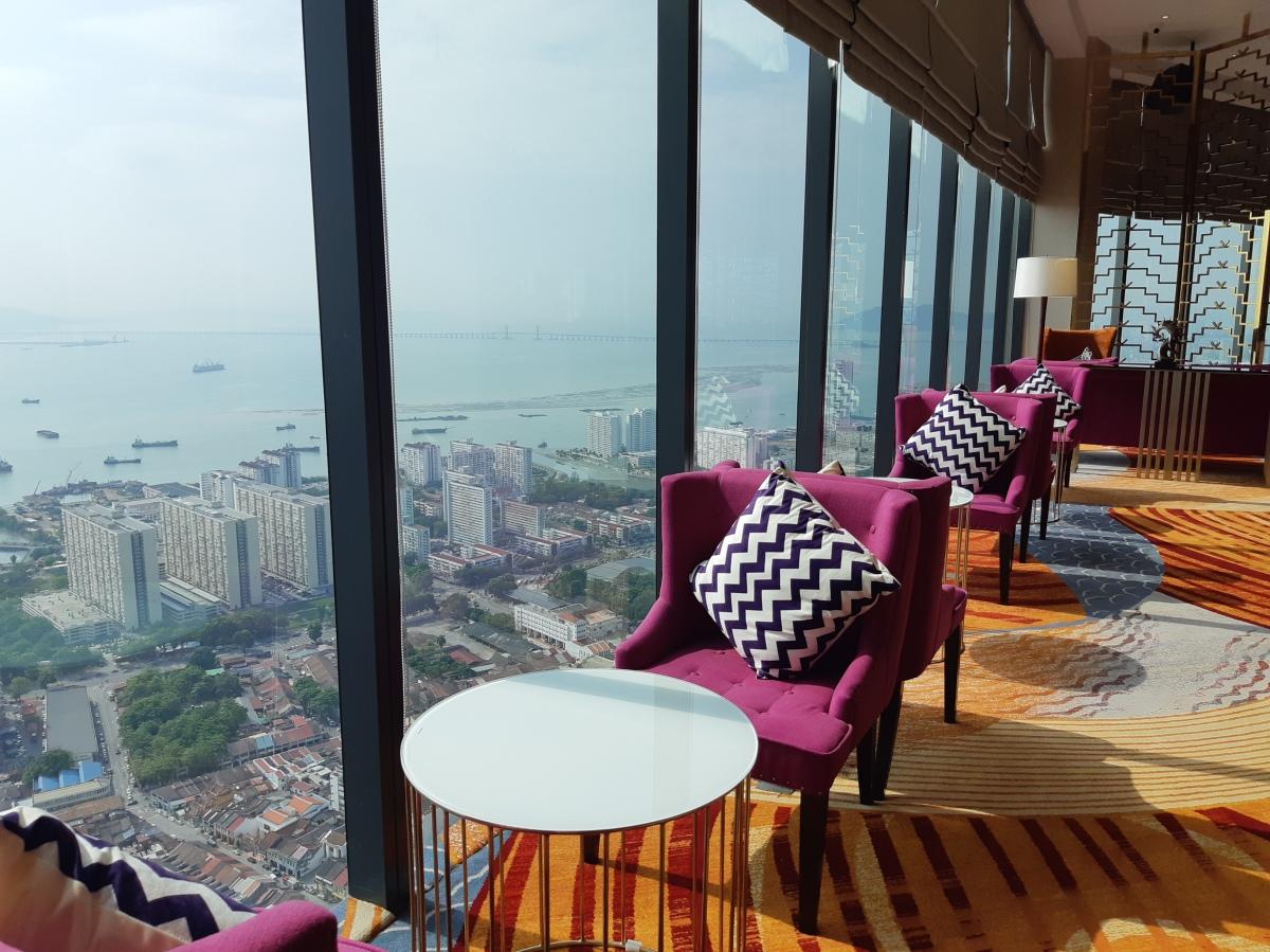 ペナンで一番高い所にある高級ラウンジ Tower Club Penang